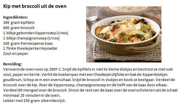 Kip met broccoli uit de oven