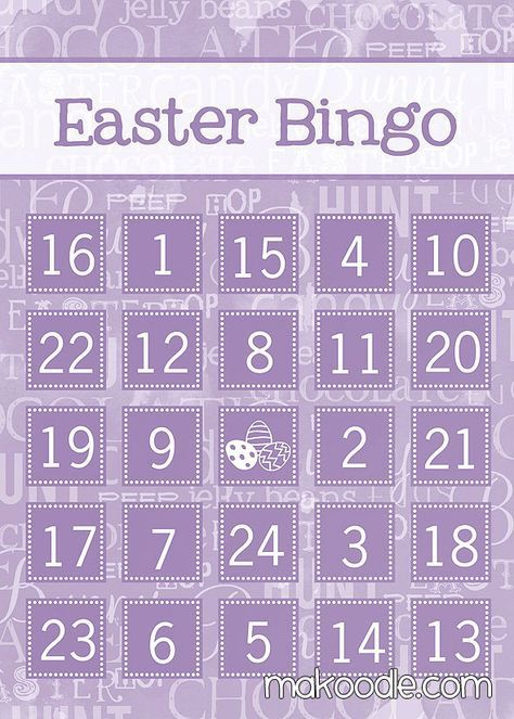Sweet image regarding free printable easter bingo cards