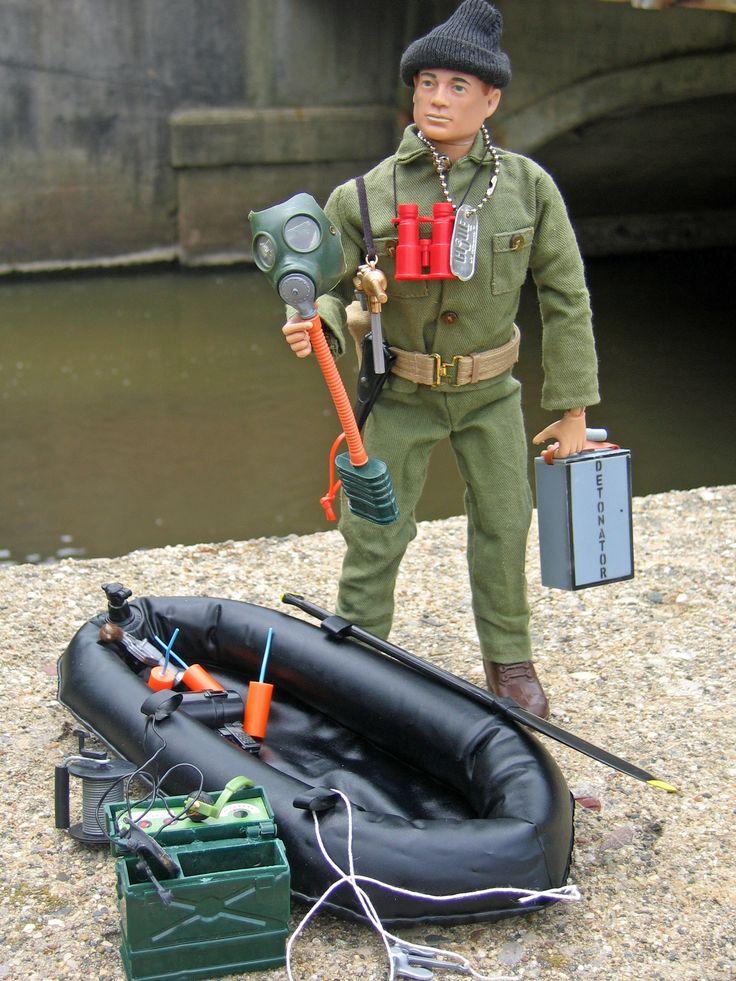 Vintage GI Joe Action Soldier, Sabotage Set, # 7516