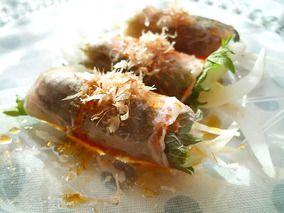 新玉ねぎのおかか生ハム巻きサラダ♪|レシピブログ