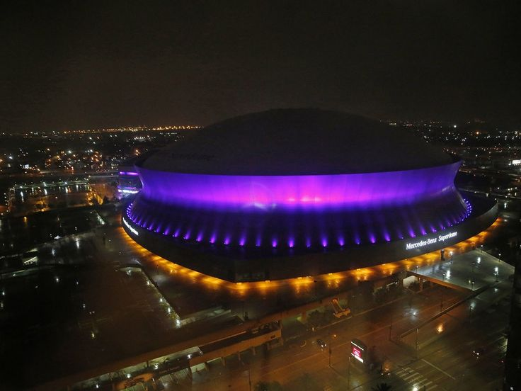 Landmarks Around the World Turn Purple for Prince Superdome, New Orleans, Louisiana
