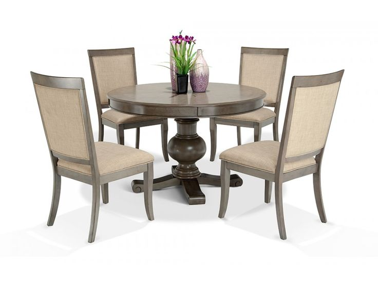 gatsby round 5 piece dining set with side chairs gatsby round dining room collections