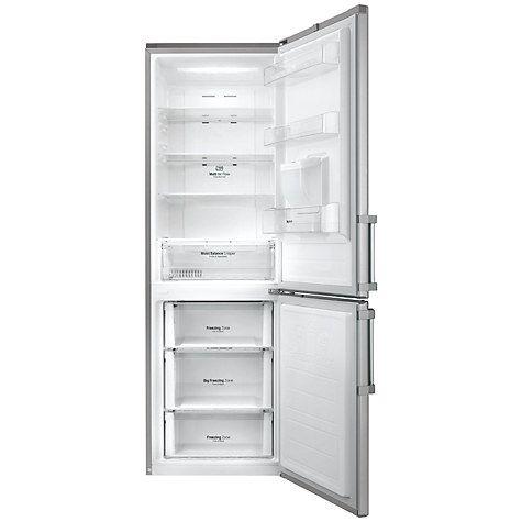 Buy LG GBF59PZKZB Freestanding Fridge Freezer, A++ Energy rating, 60cm Wide, Premium Steel Online at johnlewis.com