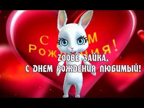 Zoobe Зайка, красивое поздравление в день рождения любимому! - YouTube