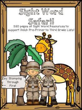 Sight Word Safari! A Dolch Sight Word Program