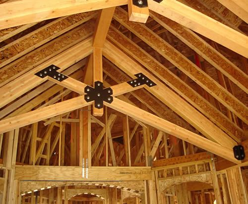Laminated Wooden Truss ~ Best images about wood beams on pinterest roof