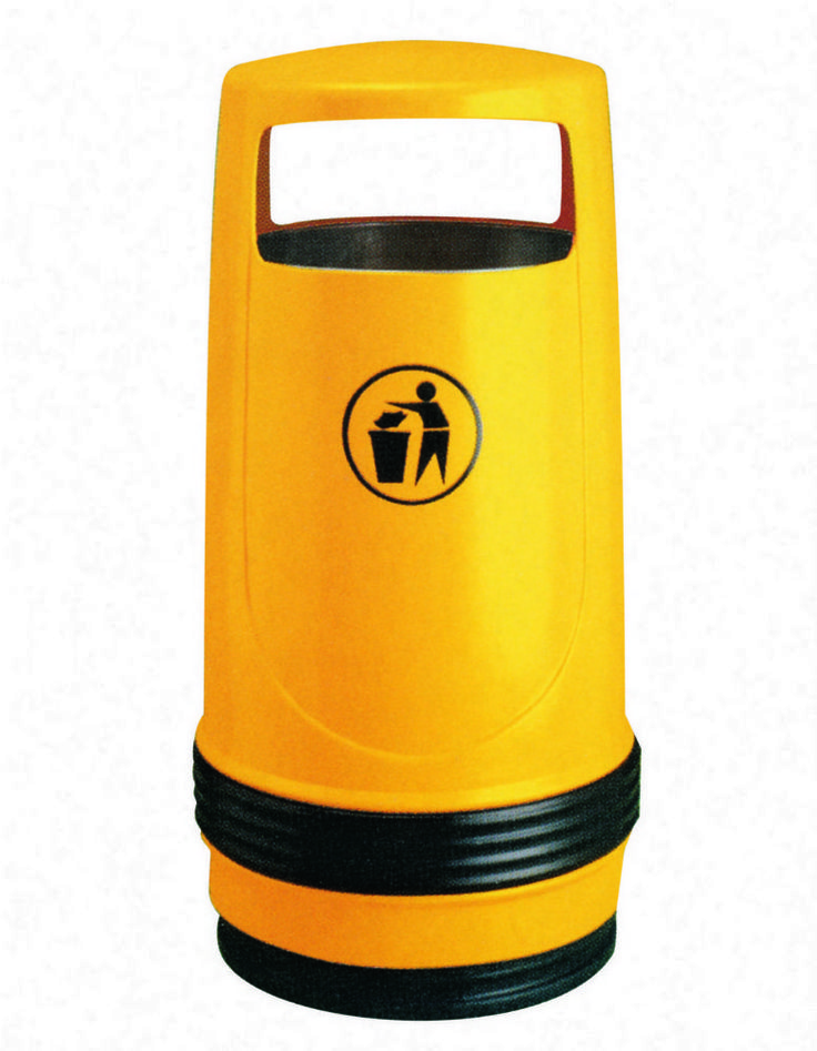 Buy this Merlin free standing outdoor hooded waste litter bin online with lockable lid & ashtray. Its durable plastic is suitable for internal / external council, NHS, park, school & public spaces.
