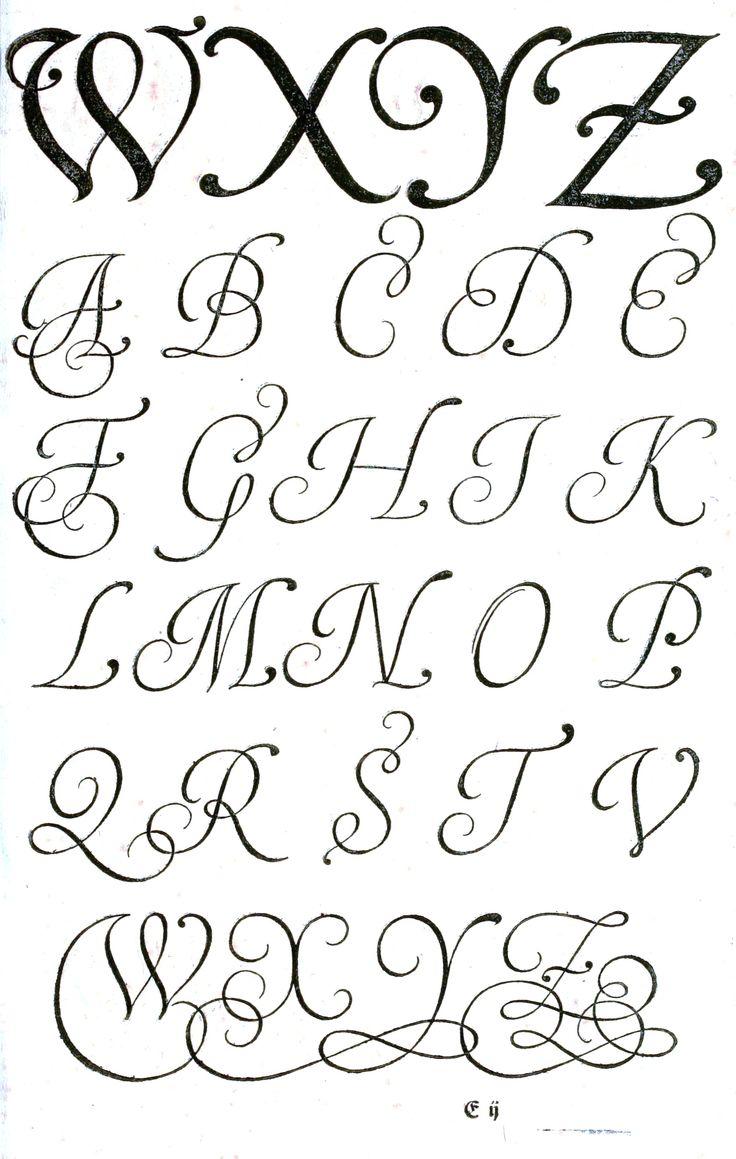 Typography - Alphabet - Old German - (3) #vintageprintable