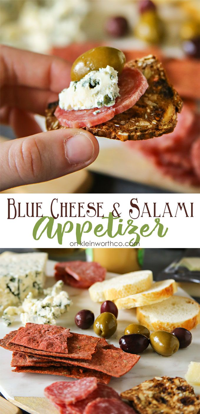 Blue Cheese Salami Appetizer is a delicious addition to your holiday parties & family get-togethers. It's a simple way to liven the party. AD #CheeseChallenge @CastelloUSA