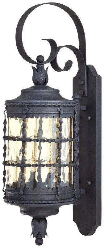 """The Great Outdoors GO 8881 2 Light 28.25"""" Height Outdoor Wall Sconce from the Ma Mediterranean Iron Outdoor Lighting Wall Sconces Outdoor Wall Sconces"""