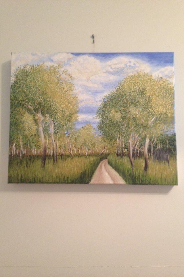 """Trippe Road"" acrylic painting by artist: Lisa Brett @woolybutt.designs"