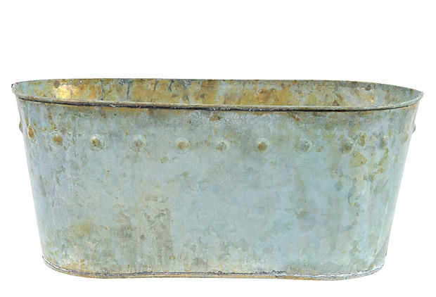 Long Flecked Rustic Planter, Medium on OneKingsLane.com