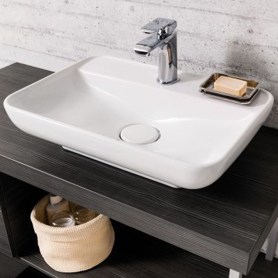 fackelmann fackelmann aufsatzwaschbecken hype 2 0 aus keramik 60 cm keramik waschbecken. Black Bedroom Furniture Sets. Home Design Ideas