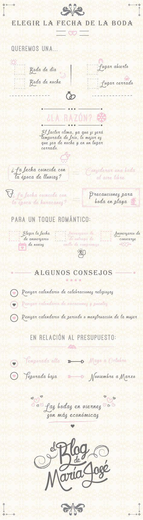 Te doy unos consejos para elegir la fecha de la boda #bodas #elblogdemaríajosé #fechaboda #weddings