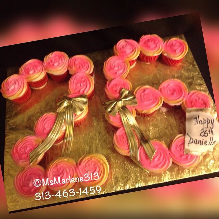 Pink and Gold Number 26 Rosette Cupcakes by #msmarlene313 #3134631459 #pinkandgold #numbercake #26 #rosettecupcakes #customcakesbymsmarlene #cakequeenmarlene #cakelady313 #cakeladydetroit #customcakesdetroit #detroitscakelady #detroitcustomcakes #designercakesdetroit #detroitcakes #madeindetroit #313 #msmarlene313