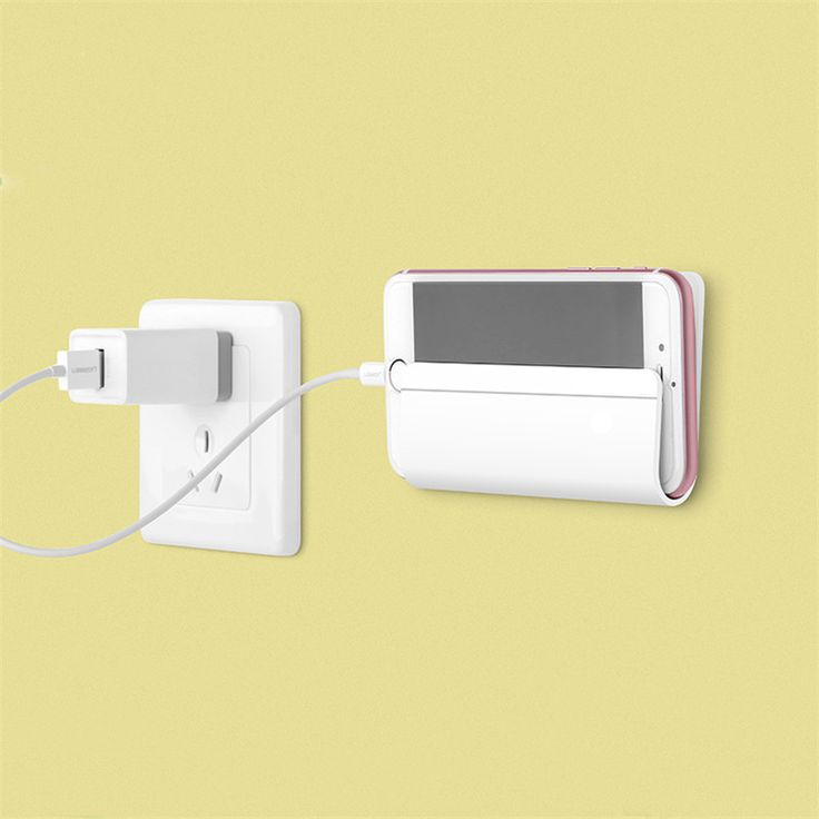 Universal Wall Stand Mount Charger Phone Holder for Smartphone