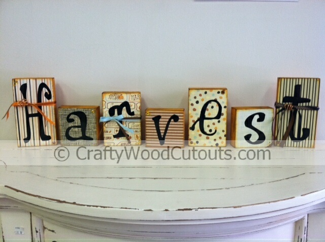 77 best crafty wood cutouts images on pinterest unfinished wood harvest blocks wood craft home decor from crafty wood cutouts sciox Images