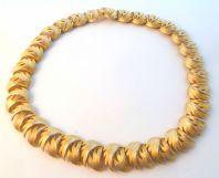 Vintage Abstact Leaf Design Panel Necklace.