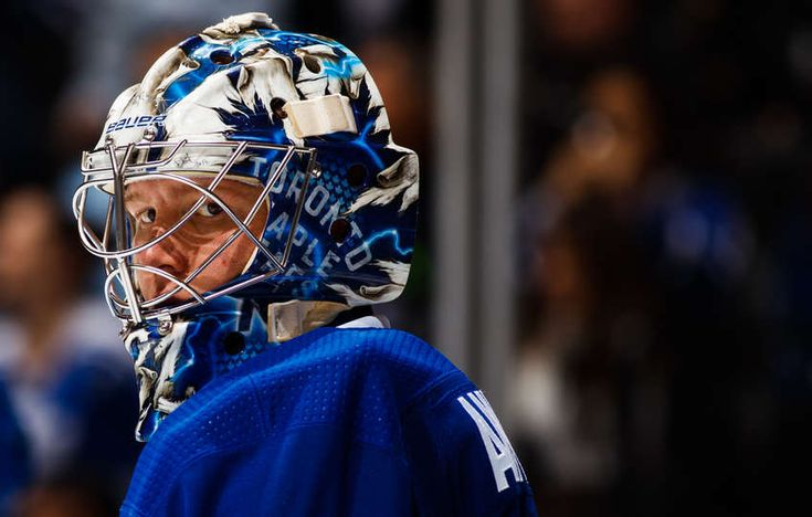 TORONTO, ON - FEBRUARY 20: Frederik Andersen #31 of the Toronto Maple Leafs pauses during play against the Florida Panthers during the second period at the Air Canada Centre on February 20, 2018 in Toronto, Ontario, Canada. (Photo by Mark Blinch/NHLI via Getty Images)