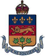 Les armoiries du Québec avec la devise du Québec, JE ME SOUVIENS