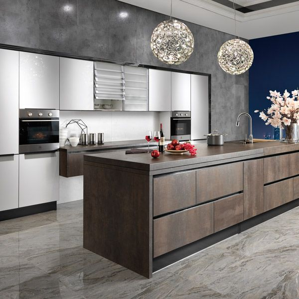 11 Best 2014 Sintered Rock From Spain Kitchen Cabinet OPPEIN Cabinets New-OP14-068 Images On