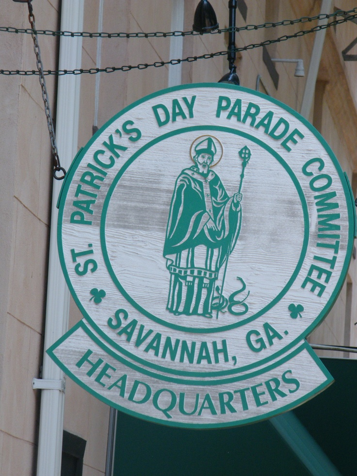 Savannah has thee best St. Patrick's Day parade and parties...or so I've been told!