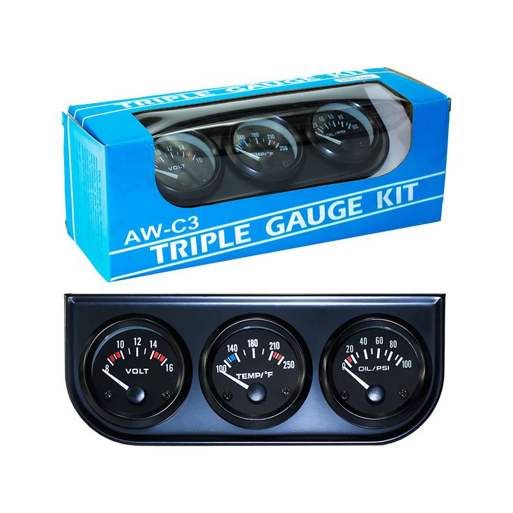 Find More ATV Parts & Accessories Information about Free shipping Black 2inch 52MM Triple gauge kit  (0 100 Psi Oil press + Fahrenheit water temp +Voltmeter)Sensor 52mm Car Meter,High Quality car fuel gauge,China gauge boost Suppliers, Cheap car seat back cover from TO TOP on Aliexpress.com