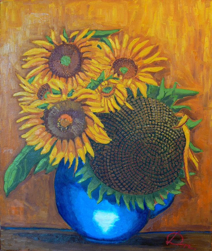 Sunflowers - oil painting