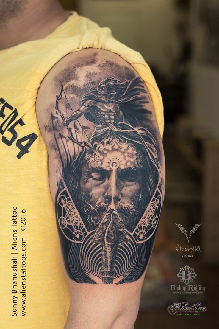 49 best Lord Shiva Tattoo Collection by Aliens Tattoo ... Indian Lord Tattoo Design