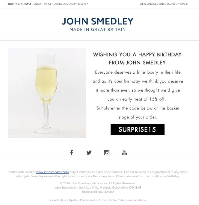 Best Birthday Emails Images On   Email Newsletter