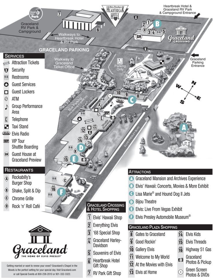 Graceland Property Map - Plan Your Visit - Elvis Presley's Graceland
