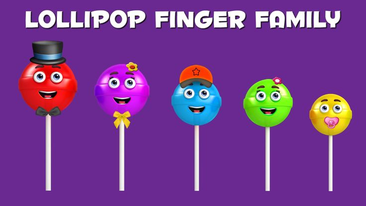 The Finger Family Lollipop Family Nursery Rhyme | Lollipop Finger Family Songs