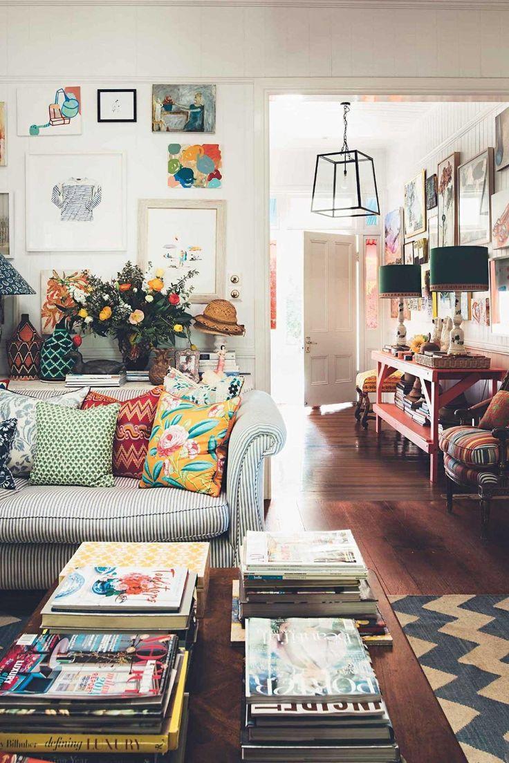 Anna Spiro: Interior designer's colourful Brisbane home
