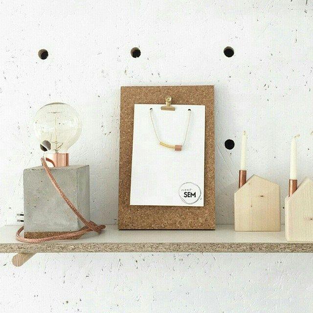 Klembord en lamp via webshop www.toefwonen.nl