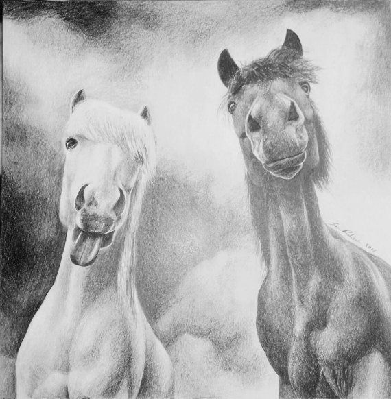 Check out this item in my Etsy shop https://www.etsy.com/listing/465256686/funny-ponies-pony-horse-original-pencil