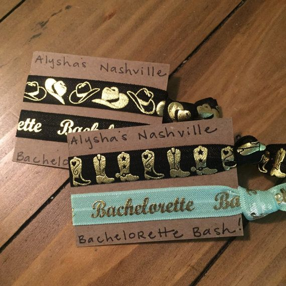 Nashville Bachelorette | Bachelorette Party Favors | Creaseless Hair Ties Gift Sets