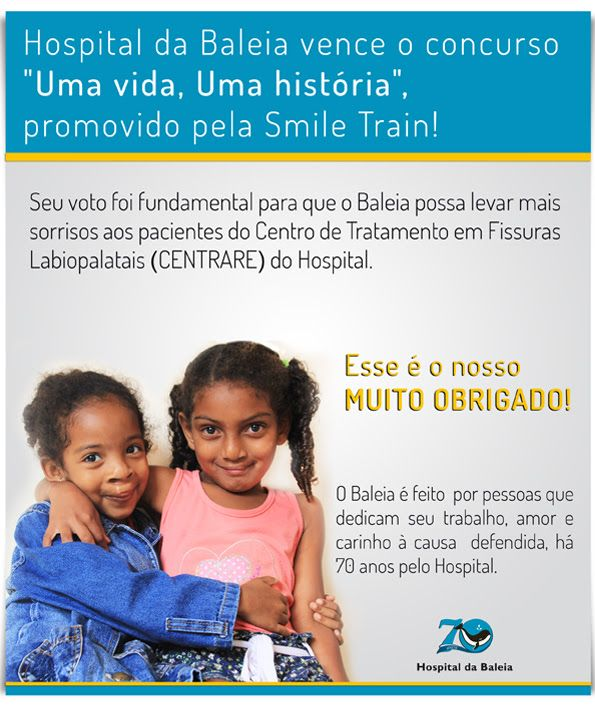 """Hospital do Baleia vence concurso: """"Uma vida, uma história"""". Conheça a Instituição!"""