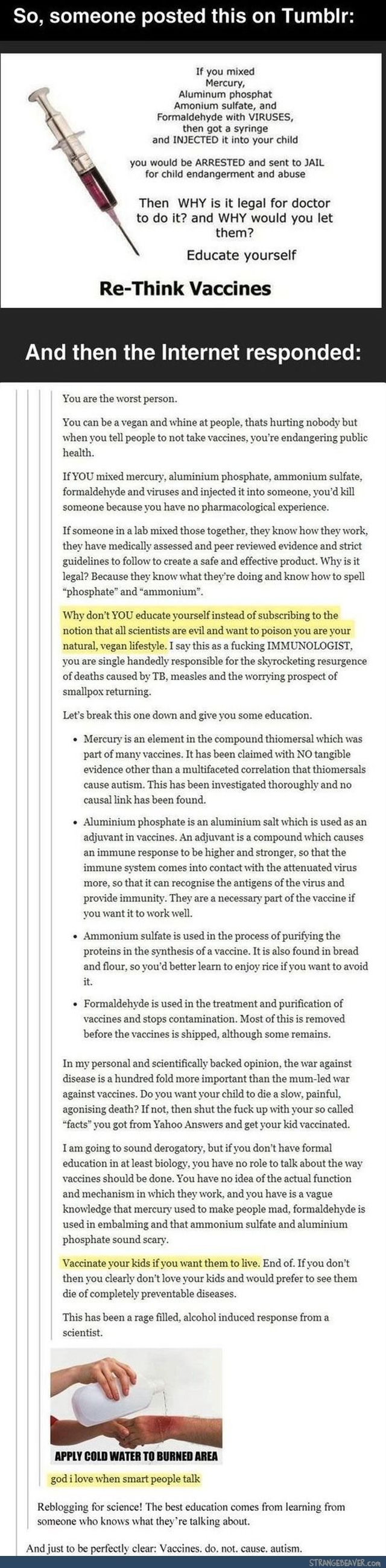 Funny tumblr post. I have a new favorite person. The scientist who told that person off is now my hero.