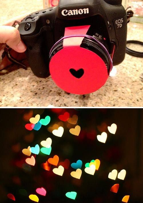 DIY Cool Bokeh Filters out of Paper - cool photography trick =>…