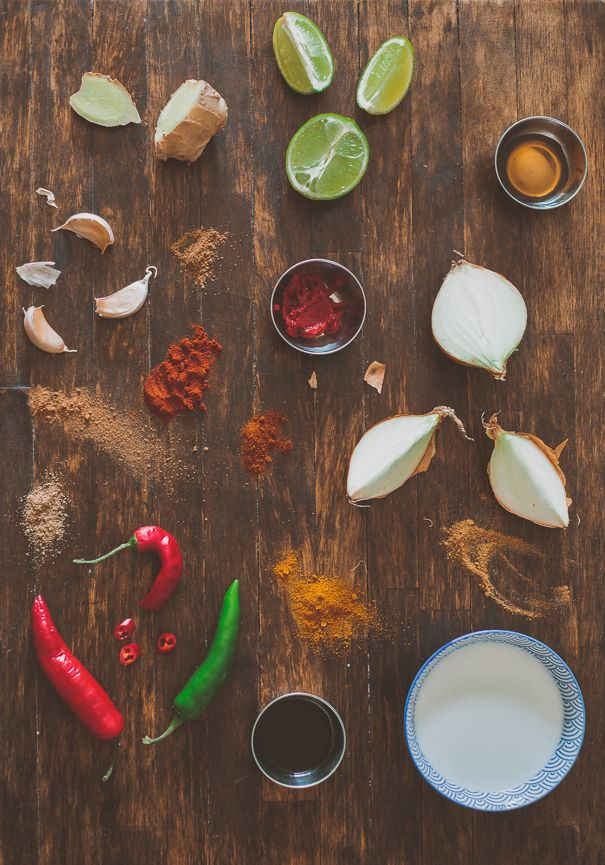Panang curry paste ingredients