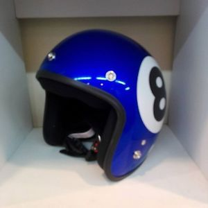 vintage moto relajados chopper cafe racer cara abierta casco azul numero 8 - Categoria: Avisos Clasificados Gratis  Estado del Producto: New without tagsPRODUCT INFO: A The best quality helmet with professional maker A Materials : Good quality of fiber A Quality : Thai Industrial Standards Institute DOT A Color : White A Size : one size fit for around head 5759 cm SHIPPING INFO: A We will ship worldwide A We ship order within 3 days after the auction end And we will ship your order…