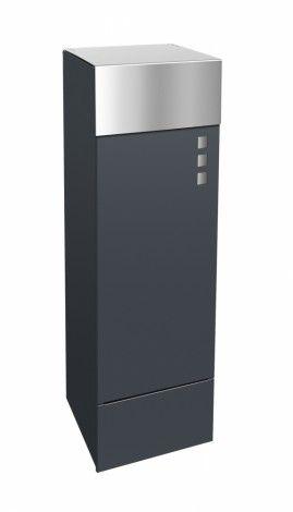 Frabox Design Paketkasten NAMUR EXKLUSIV Edelstahl / Stahl lackiert von frabox - MK-DB1070-Q-VA-7016-GLAEN online kaufen in unserem Shop | www.bruh.de