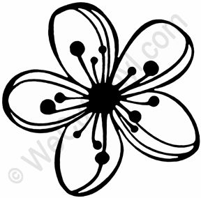 cherry blossom flower stencil - Google Search