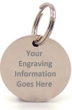 Engraved Pet Tags DOG CAT ID Disc Disk FREE P&P-Deep Engraving Name Identity