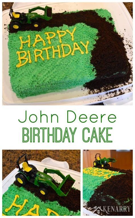 Does your child or toddler love tractors? Throw a tractor birthday party! It's especially easy with this idea for a simple John Deere Cake.