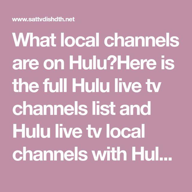 hulu tv local channels