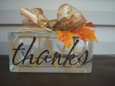 Wall Envy: Thanksgiving Glass Block she sells.kits NEED TO FIND A WAY TO MAKE THESE