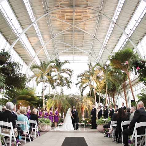 the jewel box forest park. like an outdoor wedding venue but without the fear of rain!