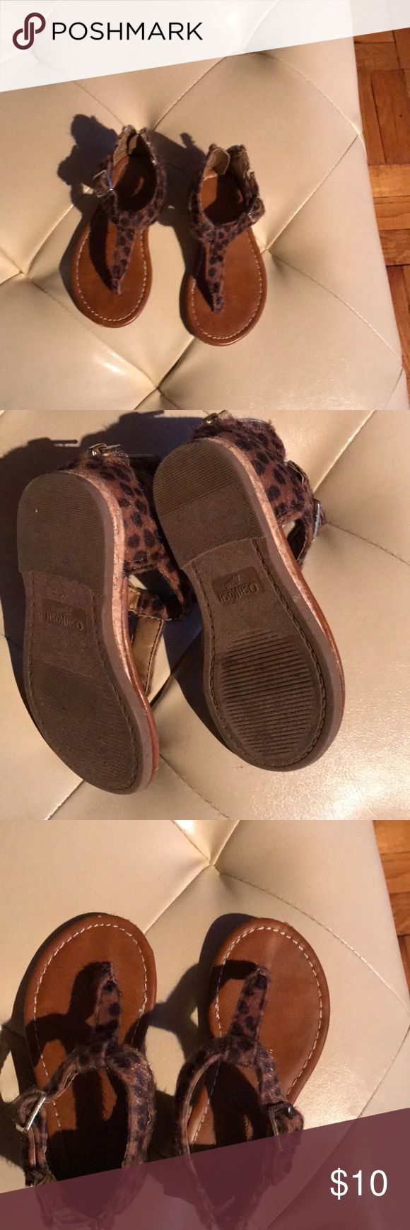 Oshkosh leopard sandals Toddler sandals size 6 good condition Shoes Sandals & Flip Flops