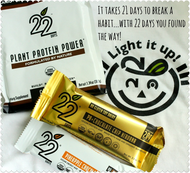 Vegan, Gluten Free Bars and Protein Powder from 22 Days Nutrition